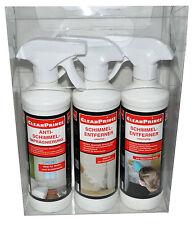 3 Stück Schimmel Reiniger Imprägnierung Schutz Entfernen Innen Wohnung Tapeten