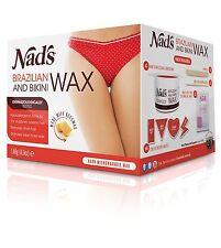 Nads Brazilian and Bikini Wax Kit for Thick Coarse Hair Sensual Mango Peach 140g
