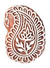 Indiano Paisley Legno Decorativi Timbro Intagliato a Mano Tessuto Stampa Blocco