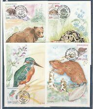 carte  1er jour  les 4 natures  èspèces protègèes    1991