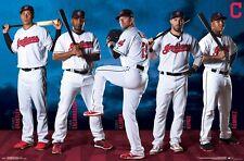 CLEVELAND INDIANS - 2017 TEAM POSTER - 22x34 MLB BASEBALL 15766