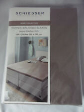 Schiesser Topper - Spannbettlaken taupe 180 cm x 200 cm / 200 cm x 200 cm