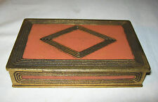 ANTIQUE ART DECO TIFFANY STUDIOS NY # 1799 GRADUATE BRONZE DESK CLIP BOX HOLDER