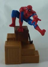"""THE AMAZING SPIDER-MAN 1997 PVC 5"""" FIGURE BALANCED ON CRATES BY APPLAUSE MARVEL"""