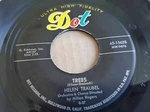 """HELEN TRAUBEL - Because / Trees 1957 CLASSICAL POP Soprano Dot Records 7"""""""