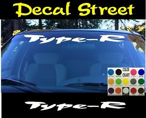 Type-R Honda Civic Windshield Banner Visor Die Cut Vinyl Decal Sticker JDM Race