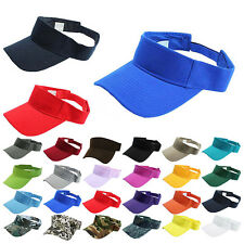 Men Women Unisex Plain Visor Sun Hat Sport Outdoor Adjustable Beach Tennis Cap