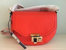 NWT 100% Authentic Rebecca Minkoff Paris Saddle Crossbody Bag (Poppy Red)