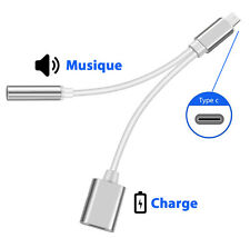 Adapter Splitter USB 3.1 Type-C to AUX Audio 3.5mm+Charging Cable for Xiaomi Mi6