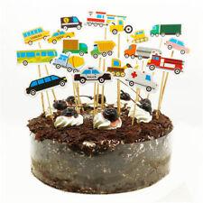 Fahrzeug Cupcake Topper Baby Dusche Geburtstagsparty Dekoration Lieferungen HMAB