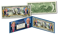 DONALD TRUMP & MIKE PENCE Pres / VP * OFFICIAL PHOTOS * Legal Tender US $2 Bill