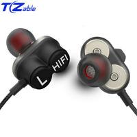 In-Ear Earphone 3.5mm With Microphone HIFI Super Bass Dual Dynamic Earphones