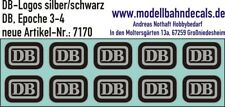 10 Tt-Decals DB Logo (Biscuit) Silver/Black, 120-7170