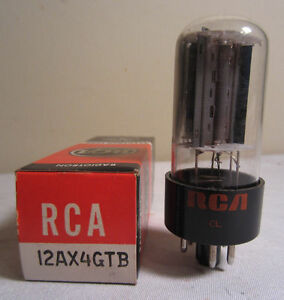 RCA Radiotron 12AX4GTB 12AX4 Gtb Electron Électronique Vide Tube en Boîte NOS