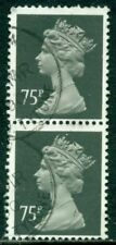 Great Britain Sg-X993, Scott # Mh-164 Vertical Machin Pair, Used, Great Price!