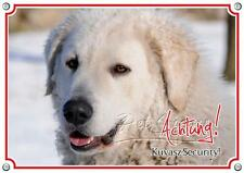 Dog Sign Kuvasz - Metal Sign - Lasting Durable - Warning Sign