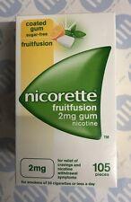 Nicorette Fruitfusion 2mg gum x 105 pieces