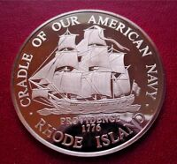 RHODE ISLAND - Official Sterling Silver PROOF Bicentennial Medal