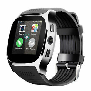 T8 Bluetooth Smart Watch Phone Mate SIM FM Pedometer for Android IOS Black