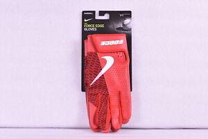 Nike Force Edge Leather Batting Gloves Baseball Gloves, Red, Medium