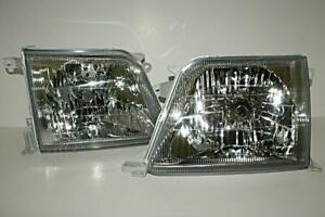 TOYOTA Land Cruiser Prado FJ90 Headlights Front Lamps PAIR 2001-2002