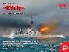 "ICM 1/700 ""Konig"" Primera Guerra Mundial Alemán Battleship # S014"