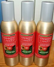 Yankee Candle MACINTOSH Concentrated Room Spray ~Lot of 3~ BRAND NEW!