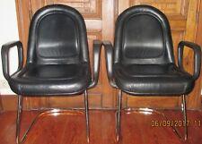 2 fauteuils/chaises de bureau en cuir STOLL GIROFLEX
