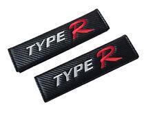 Type R Black Carbon Fiber Seat Belt Shoulder Pads/Cover 2 Pieces JDM Honda Acura