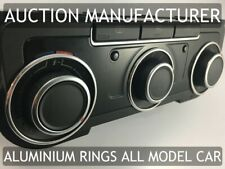 VW Scirocco 2008-2014 Chrome Heater Rings Dashboard Alloy Surrounds x3 New