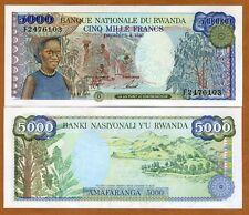 Rwanda / Africa, 5000 Francs, 1988, P-22, UNC