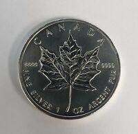 2012 Canadian 1 OZ Silver Maple Leaf Coin .9999 BU