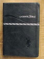 French Bible LARGER PRINT, Louis Segond 1910, Dark Green Imitation Leather