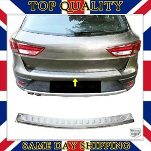 Chrome Rear Bumper Scratch Protector For Seat LEON ST Estate 2013 onwards