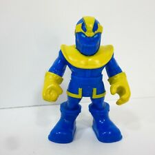 "Playskool THANOS Super Hero Adventures 2.5"" Figure Blue Yellow Costume"