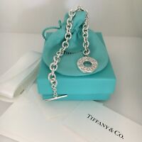 Tiffany & Co Sterling Silver 1837 Toggle Bracelet