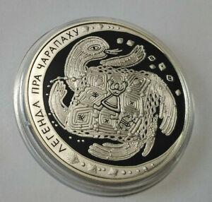 Belarus 20 rubles 2010 Folk Legends of the Tortoise  Silver 1oz