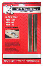 1 PAIR HSS PLANER BLADES/KNIVES FOR KITY 1637/637/636 PLANERS: 260202.5mm