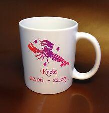 Café taza signo del zodiaco cancer rojo colector de ideas regalo