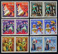 LUXEMBOURG timbres/Stamps Yvert et Tellier n°672 à 677 (x2) n** (cyn10)