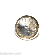 Crystal Round Diamante Buttons 10mm Wedding, Bridal, Costume,Craft