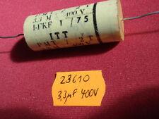 Emetti CONDENSATORE ITT 3,3µf Pellicola 400v d21x46mm F. crossover 23610