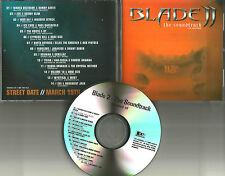 BLADE II ADVNCE PROMO CD UNRELEASE BASEMENT JAXX Moby MASSIVE ATTACK BT GORILLAZ