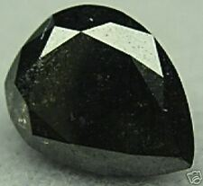 3.20 Carats 1 Polished Pear ROUGH Natural BLACK DIAMOND GEM UNTREATED Beauty