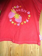 Girls  pretty red top,with strawberry design age 4-5