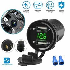 12V Toma de Mechero de Coche Cargador Doble Puerto USB 4.2A power outlet led