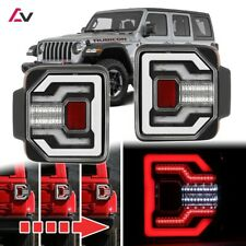2018+ Jeep Wrangler JL JLU Sport Rubicon DRL LED Sequential Tail Lights Clear