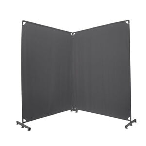 Room Divider Office Wall Divider 100'' Gray Partition for Home Office,