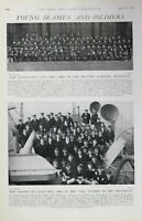 1903 Imprimé Militaire Académie Woolwich en Passant Sortie Classe Isis Sensible'
