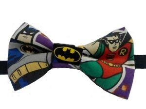 Batman and Robin Bow Tie Pretied, Double Layered, Various Sizes